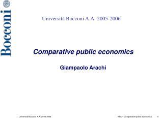 Università Bocconi A.A. 2005-2006