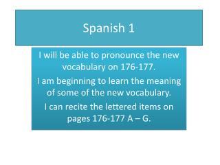 Spanish 1