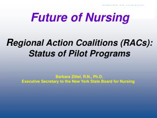 R egional Action Coalitions (RACs): Status of Pilot Programs