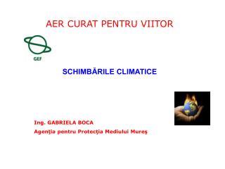 SCHIMB?RILE CLIMATICE