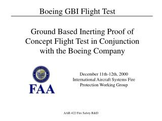 December 11th-12th, 2000 International Aircraft Systems Fire Protection Working Group