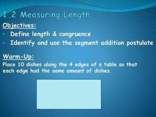 1.2 Measuring Length