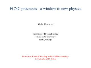 FCNC processes - a window to new physics