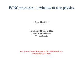 FCNC processes - a window to new physics