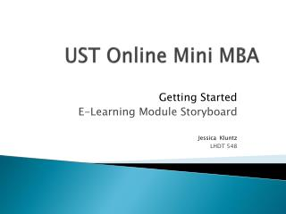 UST Online Mini MBA