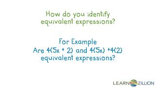 How  do you  identify equivalent expressions?