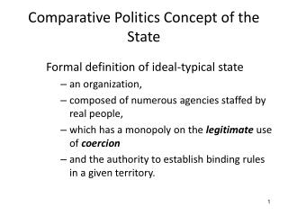 Comparative Politics  Concept of the State