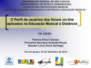 O Perfil de usuários dos fóruns  on-line  aplicados na Educação Musical a Distância