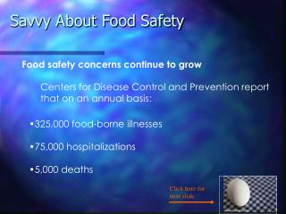 Savvy About Food Safety