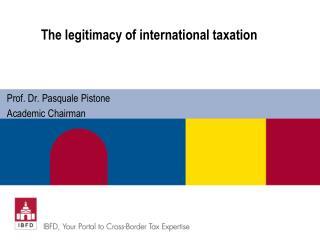 The  legitimacy of international taxation