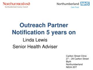 Outreach Partner Notification 5 years on