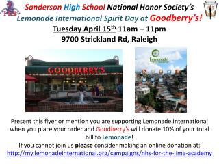 Lemonade International Spirit Day at Goodberrys!