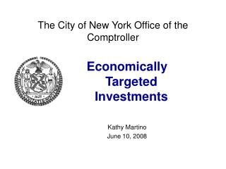 The City of New York Office of the Comptroller