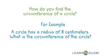 How do you find the circumference of a circle?