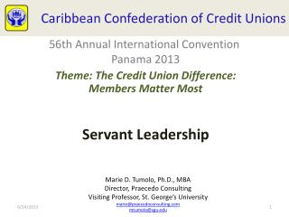 Caribbean  Confederation of Credit  Unions