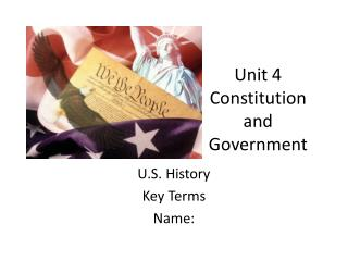 Unit 4 Constitution and Government