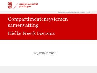 Compartimentensystemen samenvatting