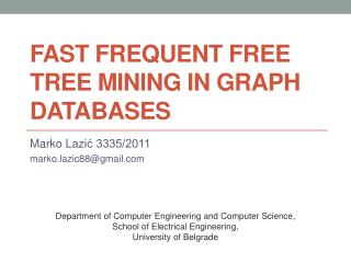 Fast Frequent Free Tree Mining in Graph Databases