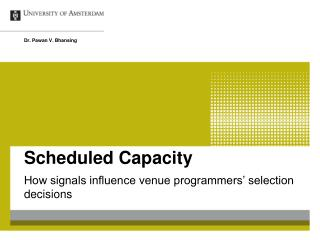 Scheduled Capacity