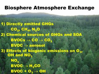 Biosphere Atmosphere Exchange