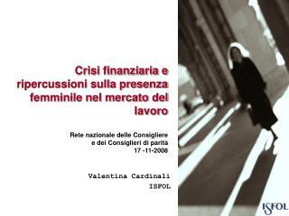 Crisi finanziaria e ripercussioni sulla presenza femminile nel mercato del lavoro