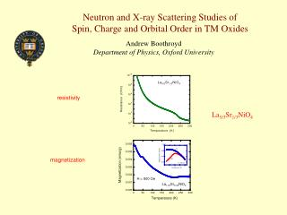 Neutron and X-ray Scattering Studies of Spin, Charge and Orbital Order in TM Oxides