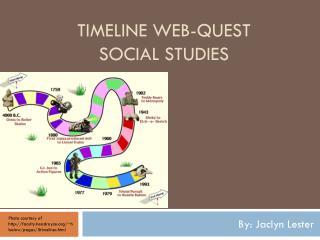 Timeline web-quest Social Studies