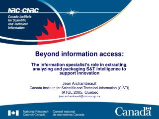 Beyond information access: