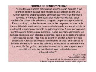 FORMAS DE SENTIR Y PENSAR