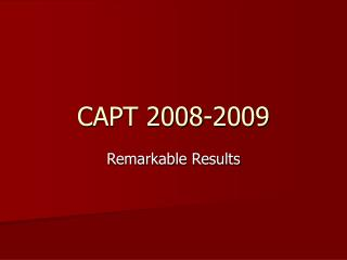 CAPT 2008-2009