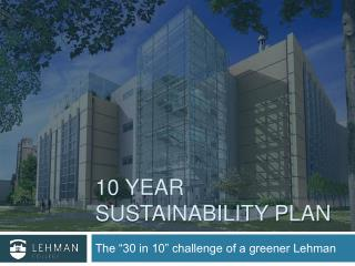 10 Year Sustainability Plan