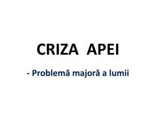 CRIZA  APEI
