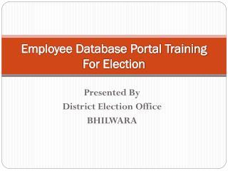 Employee Database Portal Training For Election