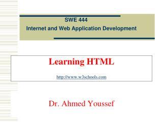 Learning HTML w3schools
