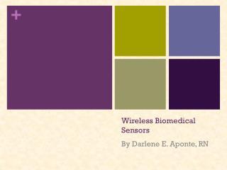 Wireless Biomedical Sensors