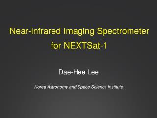 Near-infrared Imaging Spectrometer  for NEXTSat-1