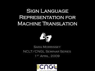 Sign Language Representation for Machine Translation