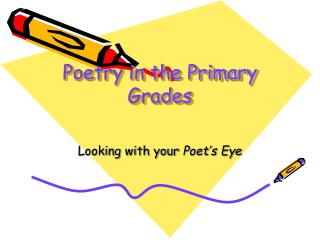 Poetry in the Primary Grades