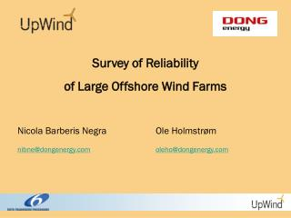 Survey of Reliability  of Large Offshore Wind Farms