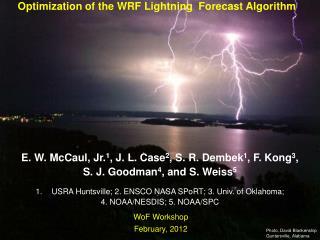 Optimization of the WRF Lightning  Forecast Algorithm