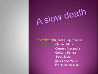 Coordinating :Prof.Lungu Simona Collaborators :Chiriac Adina