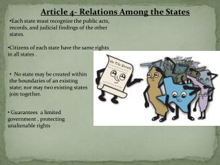 Article 4- Relations Among the States
