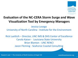 Evaluation of the NC-CERA Storm Surge and Wave Visualization Tool by Emergency Managers