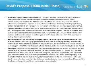 David�s Proposal (360X Initial Phase)