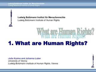Ludwig Boltzmann Institut für Menschenrechte Ludwig Boltzmann Institute of Human Rights