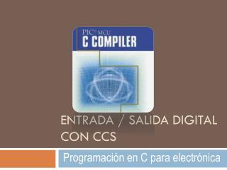 Entrada / salida digital con  ccs