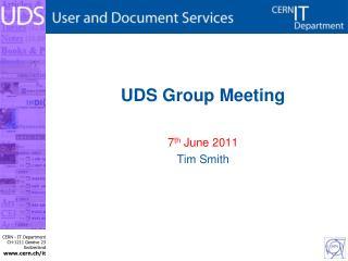 UDS Group Meeting