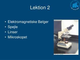 Lektion 2