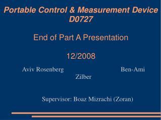 Portable Control & Measurement Device D0727