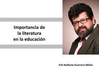 Importancia de la literatura  en la educación
